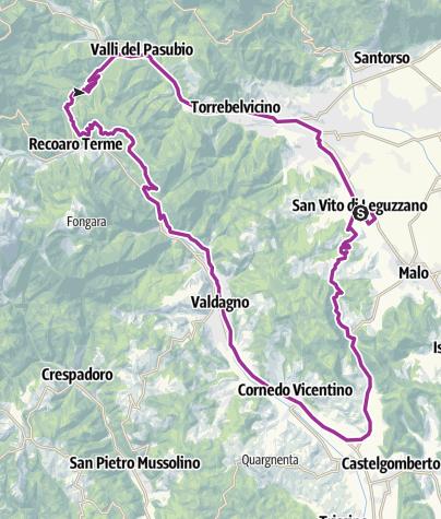 Map / 60 km strada s.v.-priabona-xon-s.v.