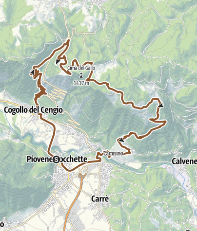 Map / Rocc Costo vecio m.te Paù Serona Tezze Rocc