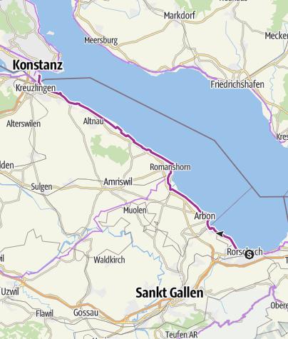 Map / Bodensee-Radweg, Etappe 5