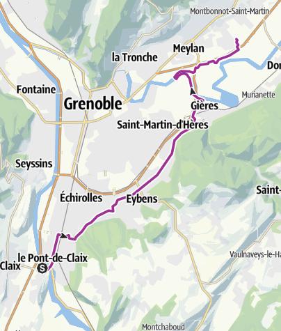 Map / Pont-de-Claix - Montbonnot par Gières