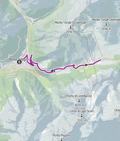 """Mappa / Le Grandi Salite """"Passo del Tonale"""""""