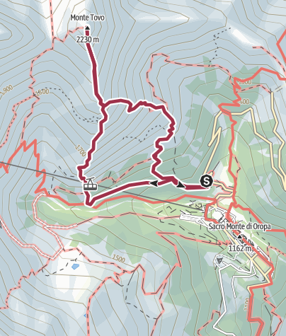 Map / Ferrata Nito Staich e punta Monte Tovo