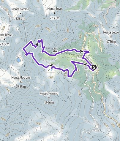 Map / oropa lago bose lago del mucrone oropa