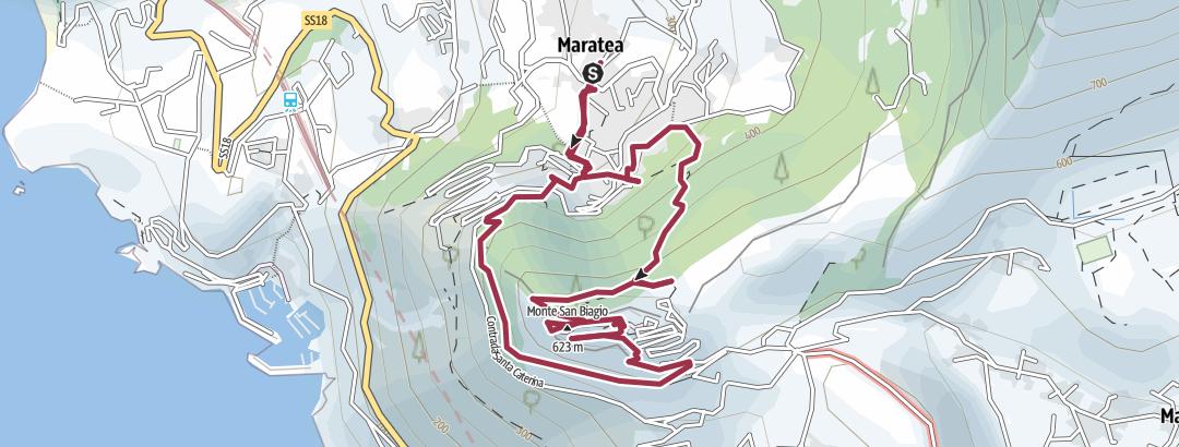地图 / Itinerario da maratea cristo redentore maratea