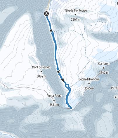 Map / colle centrale del Grand Etret