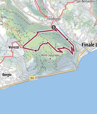 Map / Italy Finalborgo/Verezzi