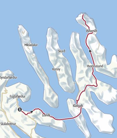 Mappa / Faroe Islands Traverse, tappa 9