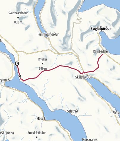 Mappa / Faroe Islands Traverse, Tappa 6b