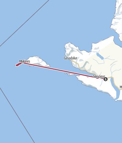 Mappa / Faroe Islands Traverse, tappa 1