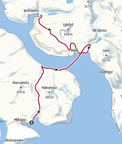 Mappa / Faroe Islands Traverse, tappa 4