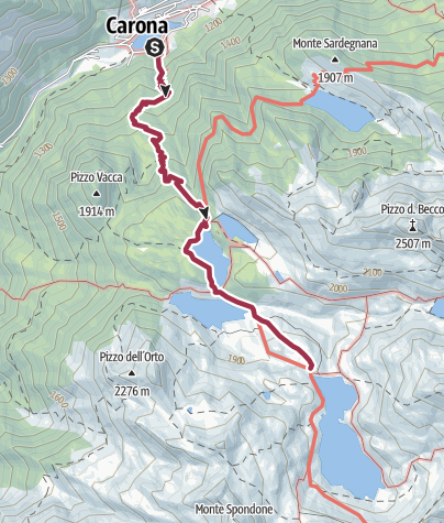 Map / Laghi Gemelli - Carona