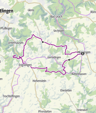 Karte / Münsingen e-Bike Tour 2 - Märchenschloss Lichtenstein