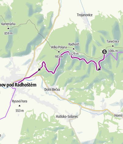 Map / 16-17 - BB6 - Pustevny - Rožnov pod Radhoštěm