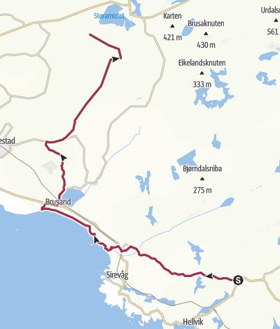 Map / Egersund - Bryne