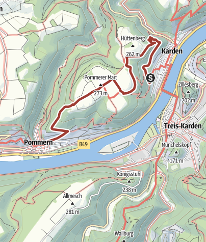 Karte / Lenus-Mars-Weg