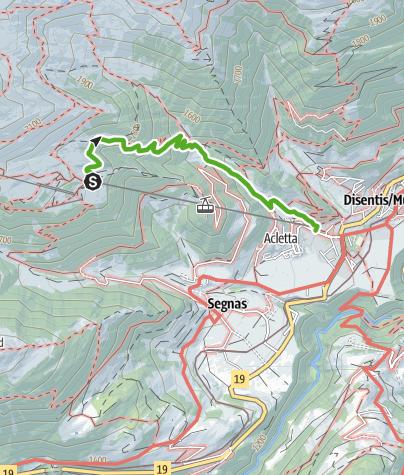 Karte / Senda dils Laruns-Die Bedeutung des Bergwaldes