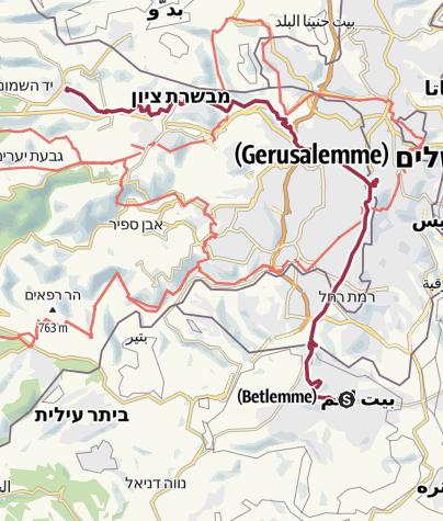 Mappa / JESUS Trail 2016 - Da Betlemme a Emmaus