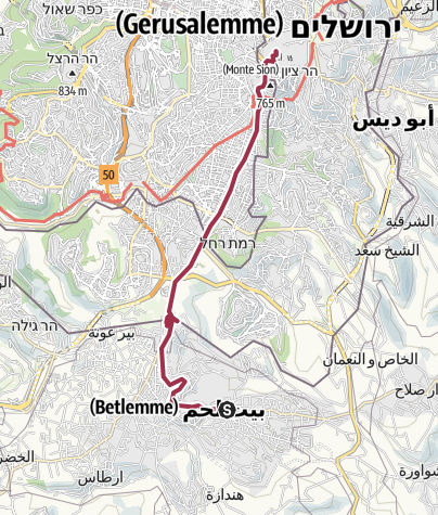 Mappa / JESUS Trail 2016 Betlemme > Gerusalemme