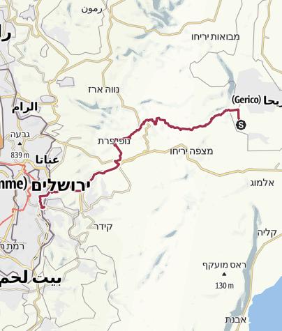 Mappa / JESUS trail 2018 > Jericho - Betania
