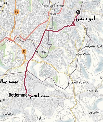 Mappa / JESUS trail 2018 > Betania - Betlemme