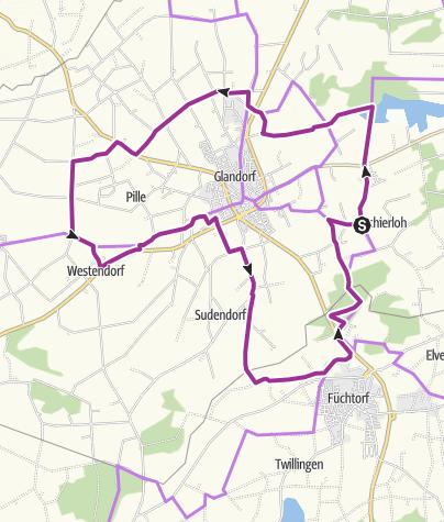 Karte / Spargelroute Glandorf