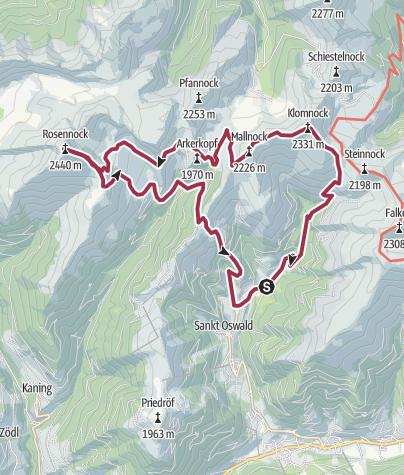 Kartta / Home to Nassbodensee + Rosennock
