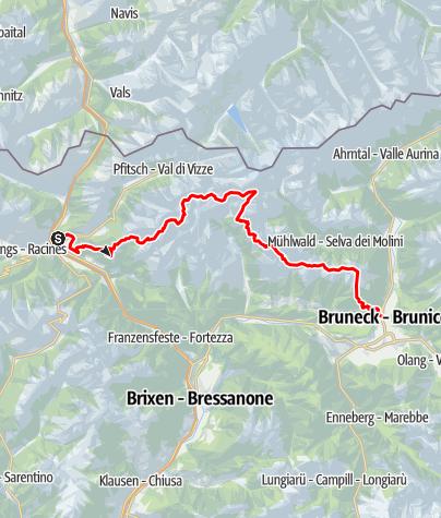 Karte / Pfunderer Höhenweg