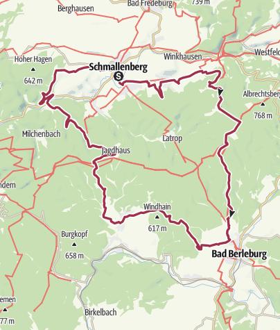 Karte / Wandern, Kunst & Wisent-Wildnis - 3-tägige Rundtour
