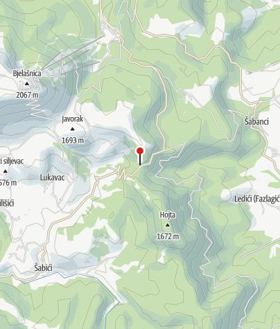 Mapa / Planinarski dom Bijele Vode