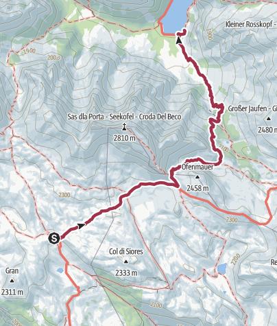 Carte / Regal 35 :Sennes -> Lago di Braies / Dolomites