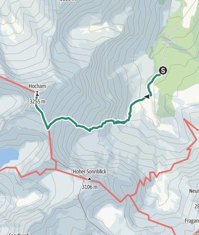 Karte / Rauris: Erfurterweg Hocharn Nr. 123