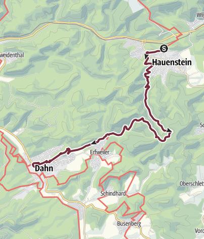 Karte / Pfälzer Waldpfad Etappe 07 Hauenstein - Dahn