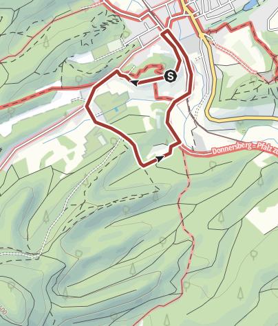 Karte / Rundweg in Dahn
