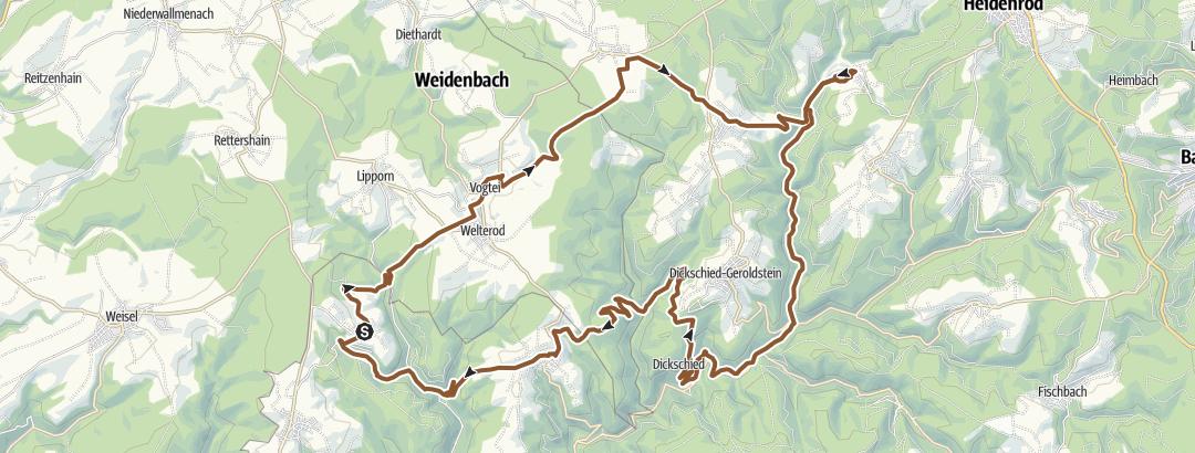 Cartina / Auf den Spuren der Wisper