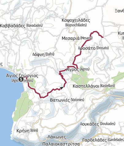 Kartta / Corfu Trail: Agios Georgios-Rekini