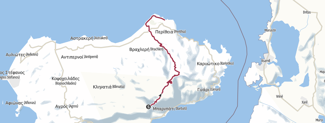 Mapa / Corfu Trail: Spartillas-Agios Spyridon