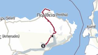 地图 / Corfu Trail: Spartillas-Agios Spyridon