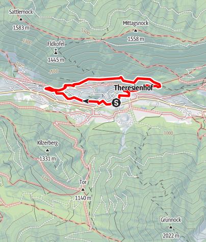 Karte / Stollenwanderweg Bad Bleiberg - dem Bergbau auf der Spur