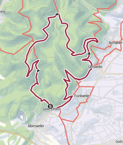 Karte / Pfälzer Hüttentour