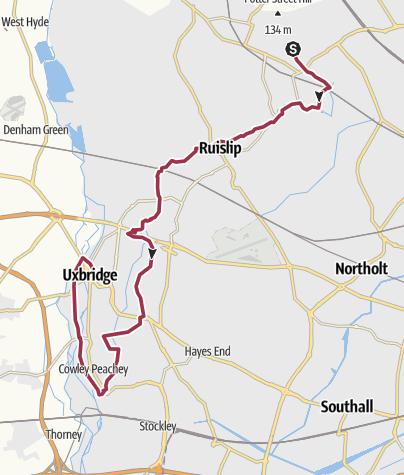 Map / Celandine Path Pinner to Uxbridge