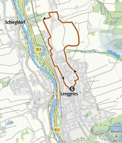 "Karte / AOK-Nordic Walking Parcours Lenggries -""Vital Route"""