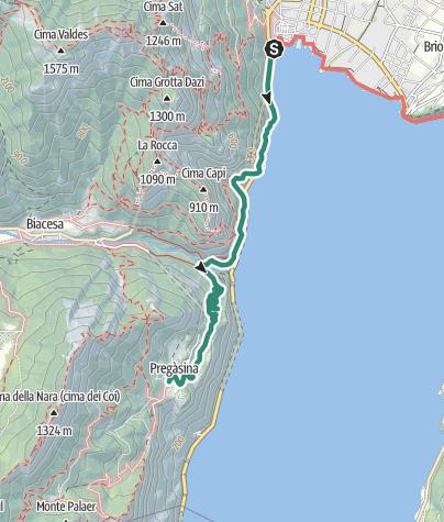 Cartina / Sentiero della Ponale: il must del Garda Trentino