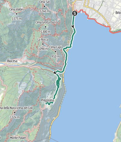 Map / Ponale Trail: The top trek in Garda Trentino