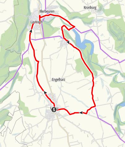 Karte / Kleine Illerwinkeltour