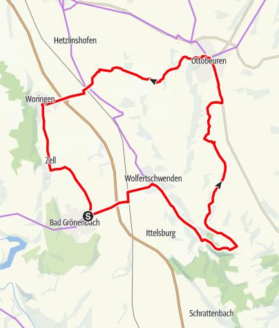 Karte / Bad Grönenbach - Ottobeuren