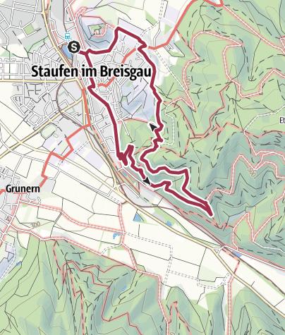 Karte / Staufener Höllbergrunde