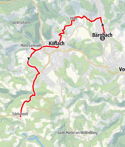 Karte / 3. Etappe: Jakobsweg Weststeiermark