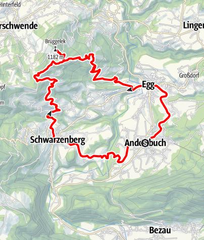 Karte / Andelsbuch | Mittelwald-Runde