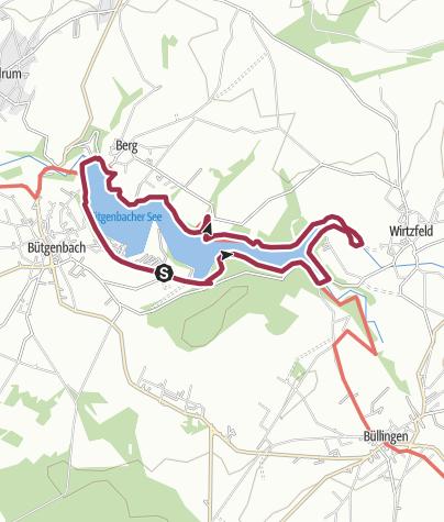 Karte / Um den See von Bütgenbach