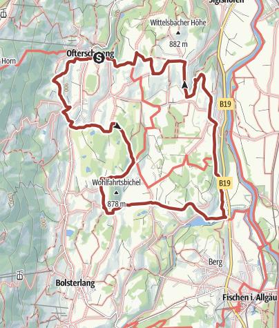 "Map / Themenweg Hörnerdörfer: Wege für Leib und Seele - Kategorie ""lila"""